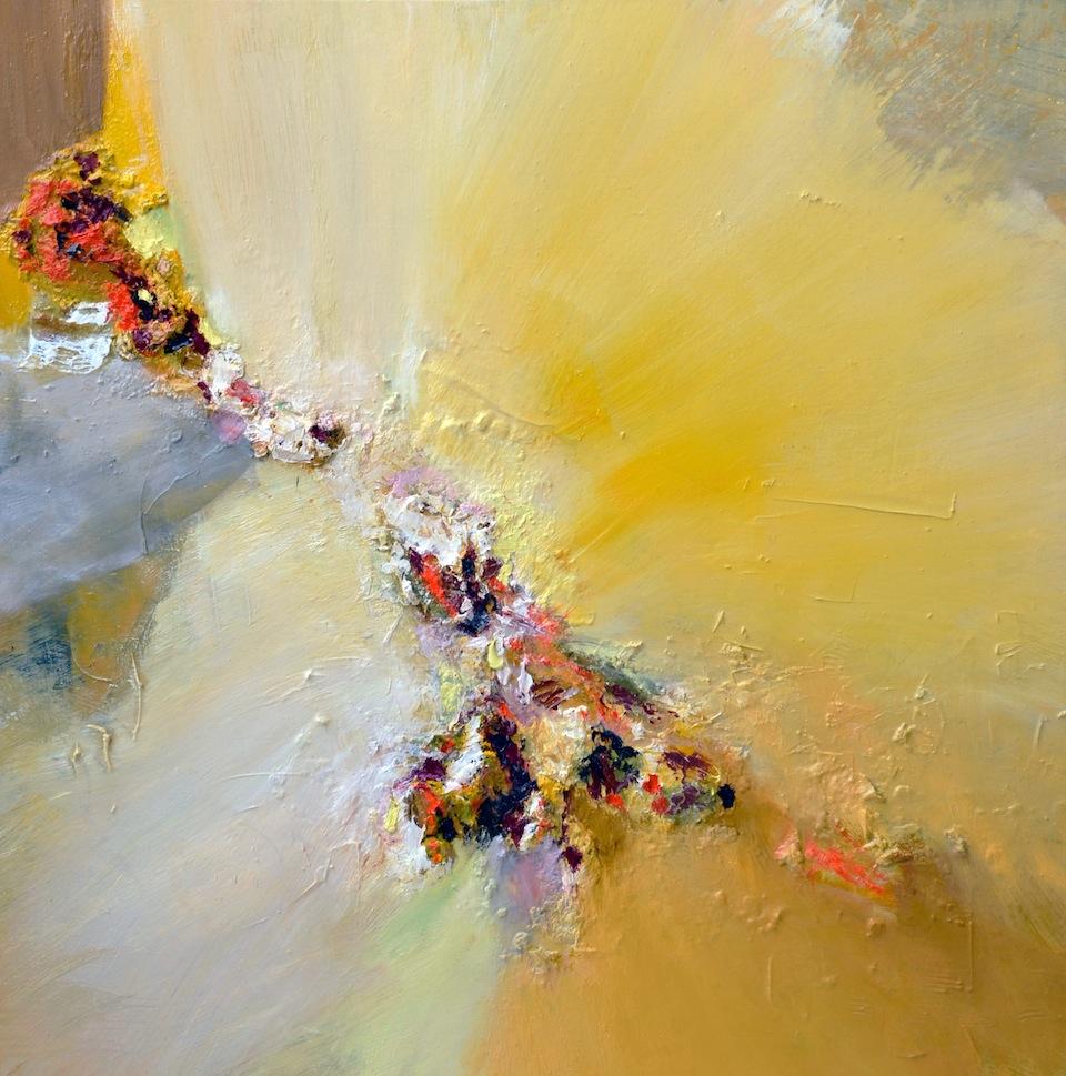 Dimitri Kosiré, Babatchka 蝴蝶, Oil on Canvas, 120x120cm, 2011
