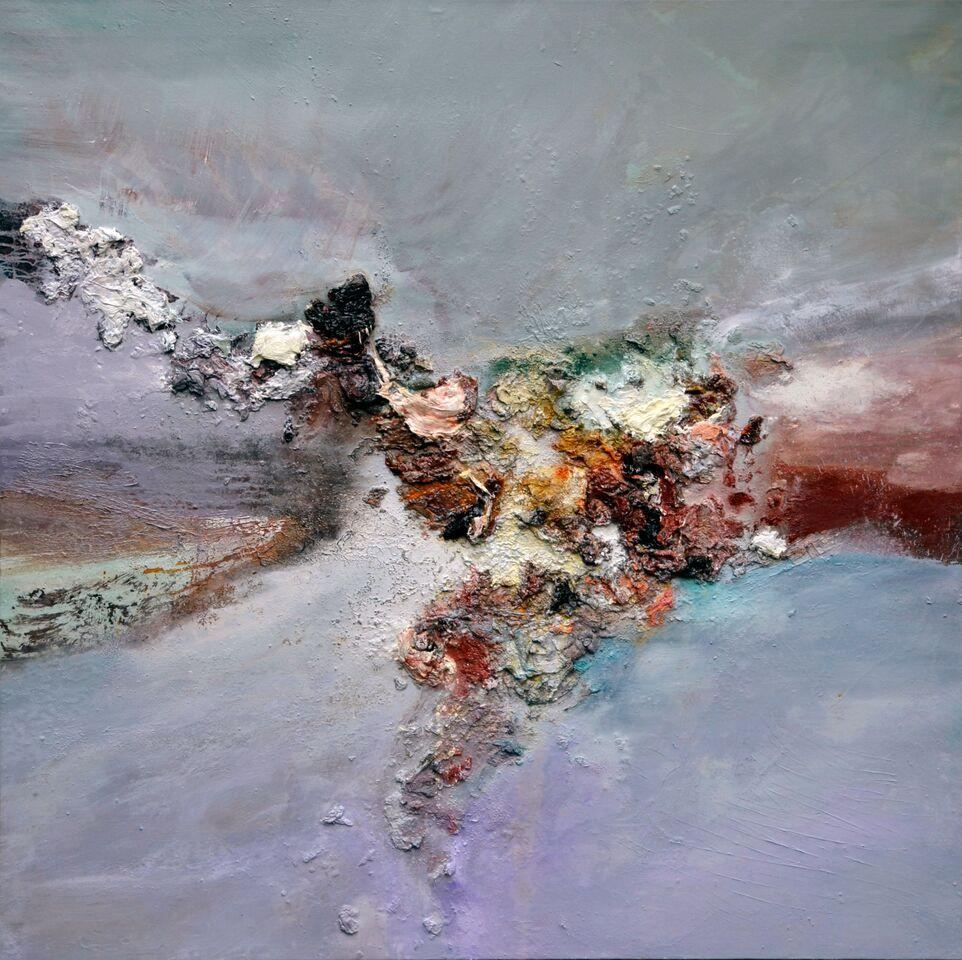 Dimitri Kosiré, Moonlights Echos 月光之迴響, Oil on Canvas, 150x150cm, 2006
